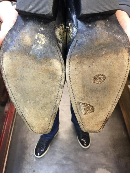 Zool reparatie Sendra laarzen | Schoenmakerij van den Brul